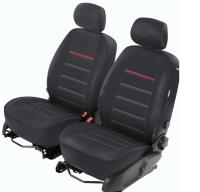Sitzbezug Toyota RAV4 IV (BJ 2013+, 40/60) - MOD3 schwarz, rote Naht
