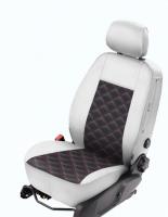 Sitzbezug Mazda 3 (BM, 2013+) weiss/schwarz MOD2/4