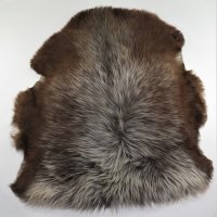 Lammfell Unikat Lama Wolf 110x95 cm braun-grau,...