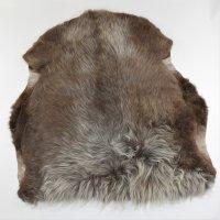 Lammfell Unikat Lama 94 x 100 cm braun/grau, Sitzauflage,...