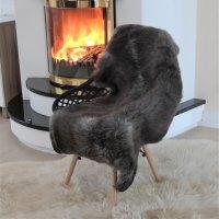 Lammfell braun 67 dm 100x77 cm  superweich Sitzauflage,...