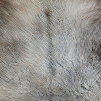 Lammfell Unikat Lama grau 98 x 100 cm superweich...