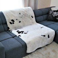 Teppich Sitzdecke aus Schaffel Lammfell weiss 160 x 90 cm