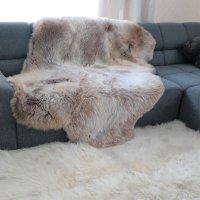 Teppich Sitzdecke aus Schaffel Lammfell natur 170 x 120 cm