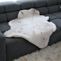 Lammfell Unikat beige 78 dm 107x85cm Sitzauflage, Teppich...