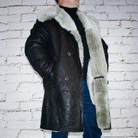 3/4 Mantel aus Lammfel schwarz | Echtleder | Jacke
