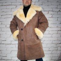 3/4 Mantel aus Lammfel hell braun | Echtleder | Jacke